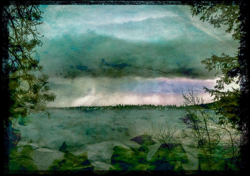 Thunderstorm over Liberty Lake, Washington